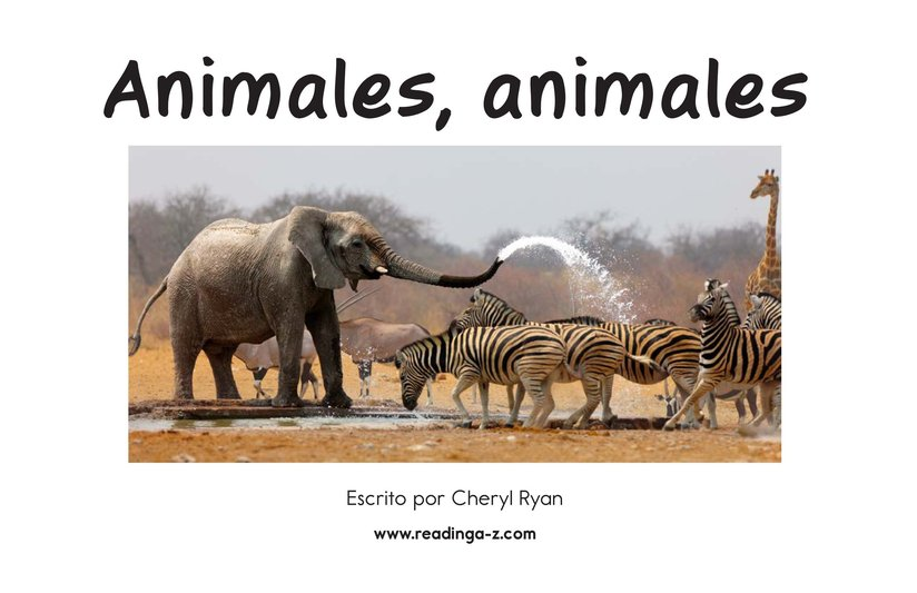 Book Preview For Animals, Animals Page 2