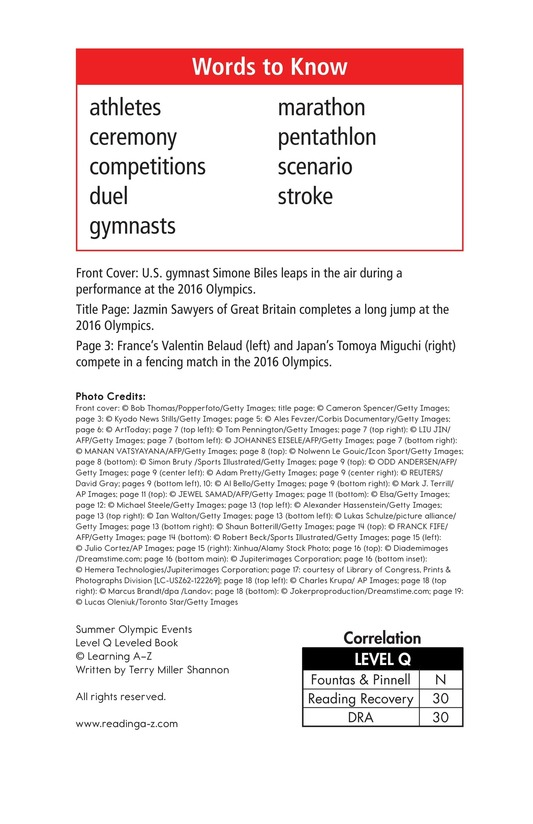 Book Preview For Summer Olympics Events Page 2
