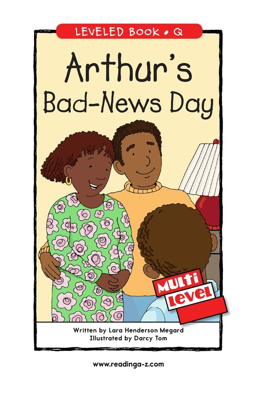 Book Preview For Arthur's Bad-News Day Page 1