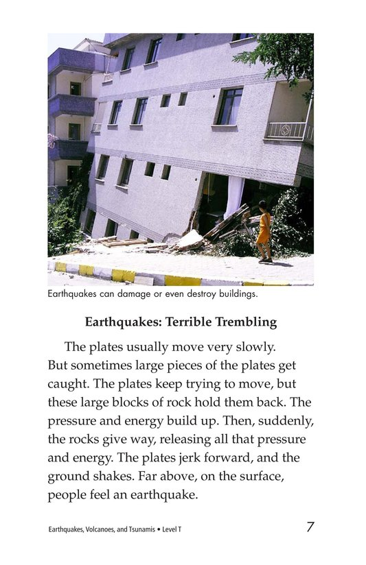 Book Preview For Earthquakes, Volcanoes, and Tsunamis Page 7