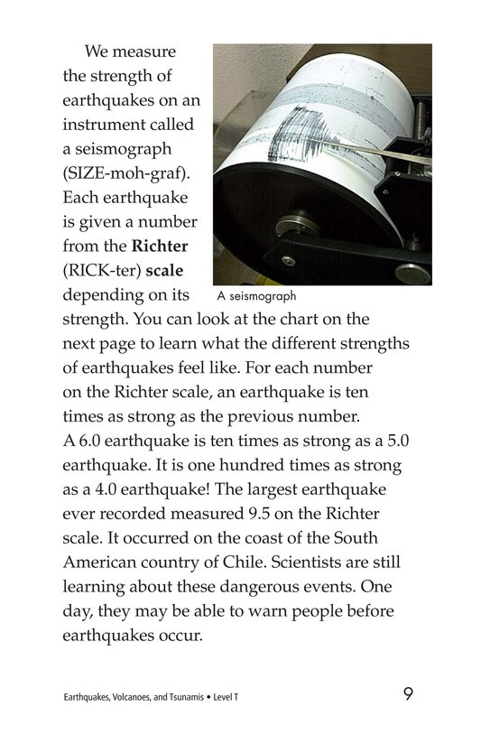 Book Preview For Earthquakes, Volcanoes, and Tsunamis Page 9