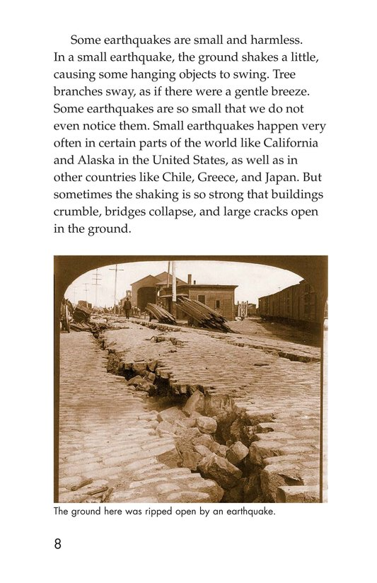 Book Preview For Earthquakes, Volcanoes, and Tsunamis Page 8