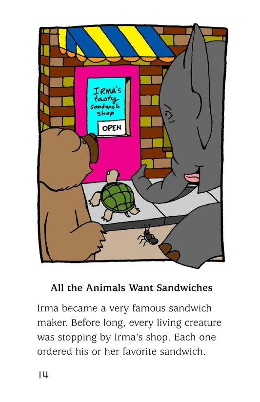 Book Preview For Irma's Sandwich Shop Page 14
