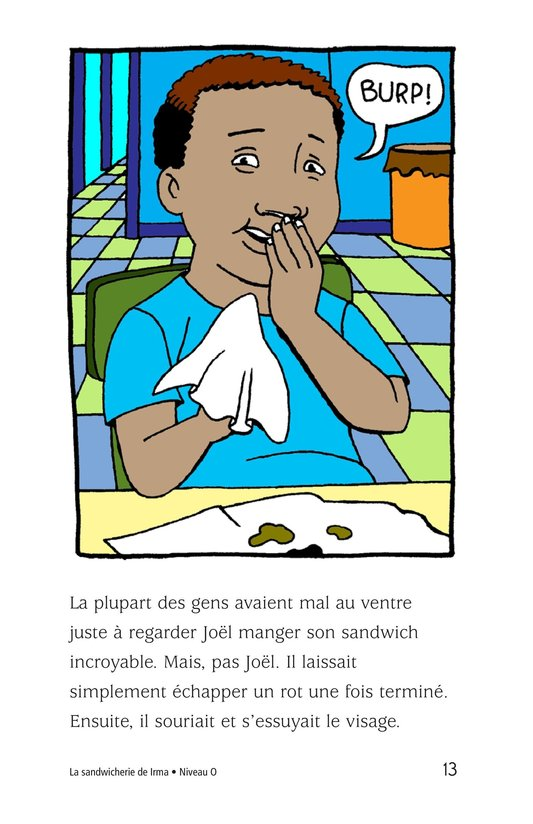 Book Preview For Irma's Sandwich Shop Page 13