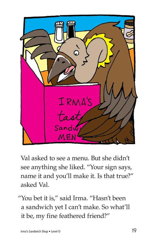 Book Preview For Irma's Sandwich Shop Page 19
