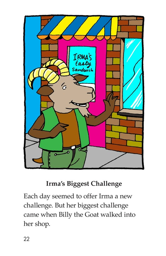 Book Preview For Irma's Sandwich Shop Page 22