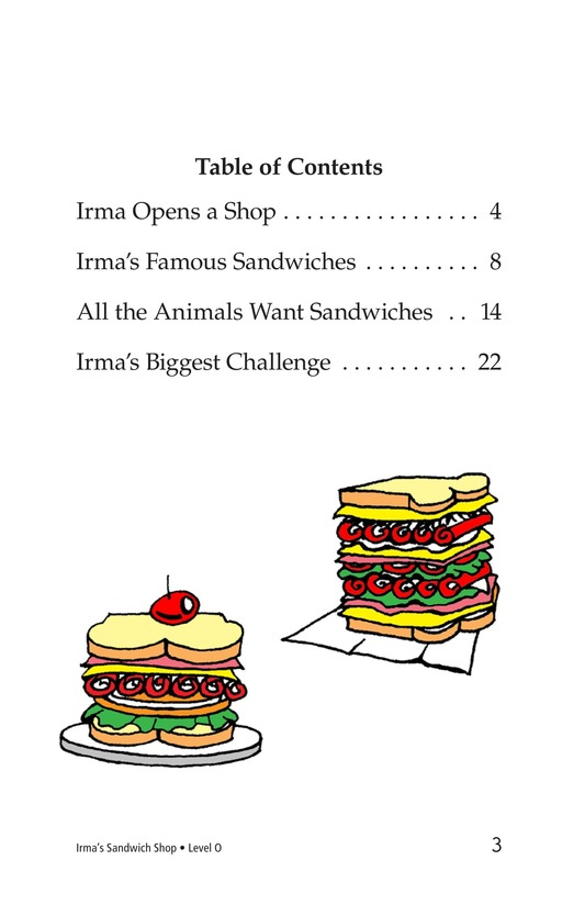 Book Preview For Irma's Sandwich Shop Page 3