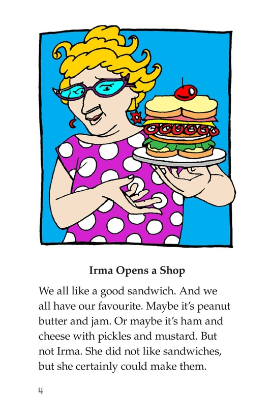 Book Preview For Irma's Sandwich Shop Page 4
