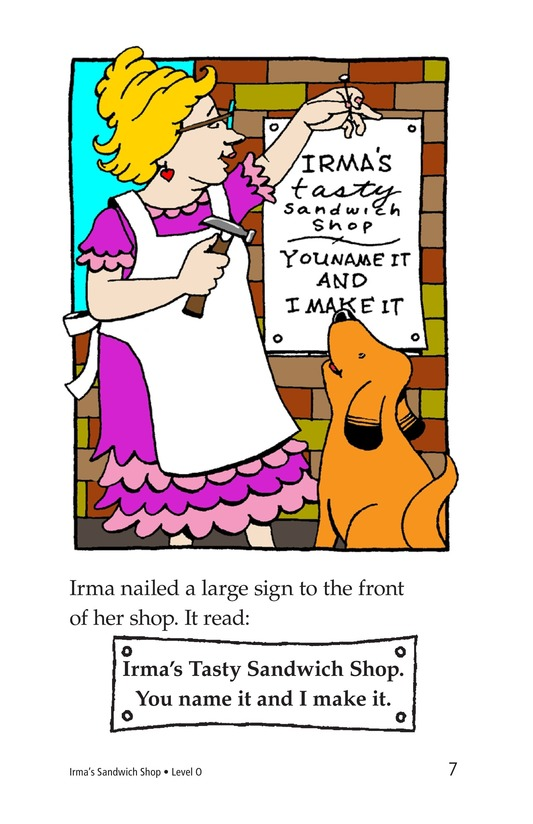 Book Preview For Irma's Sandwich Shop Page 7