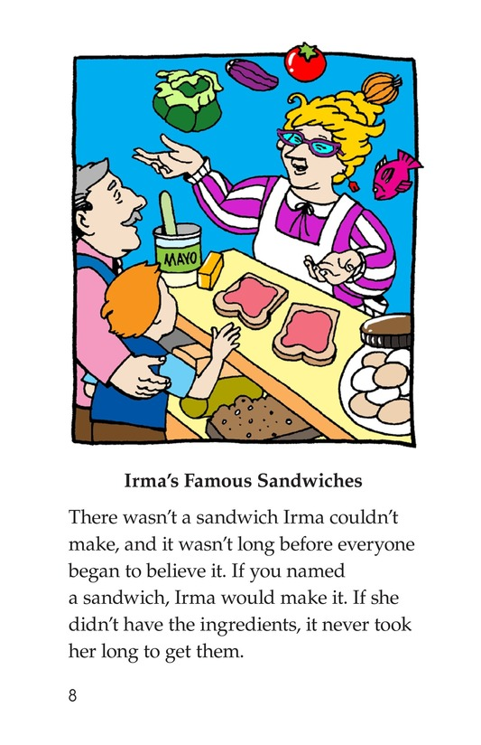 Book Preview For Irma's Sandwich Shop Page 8