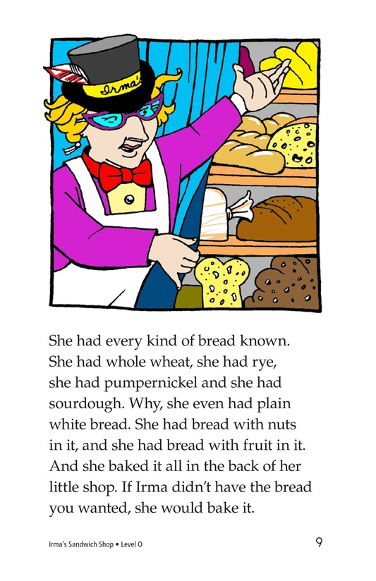 Book Preview For Irma's Sandwich Shop Page 9