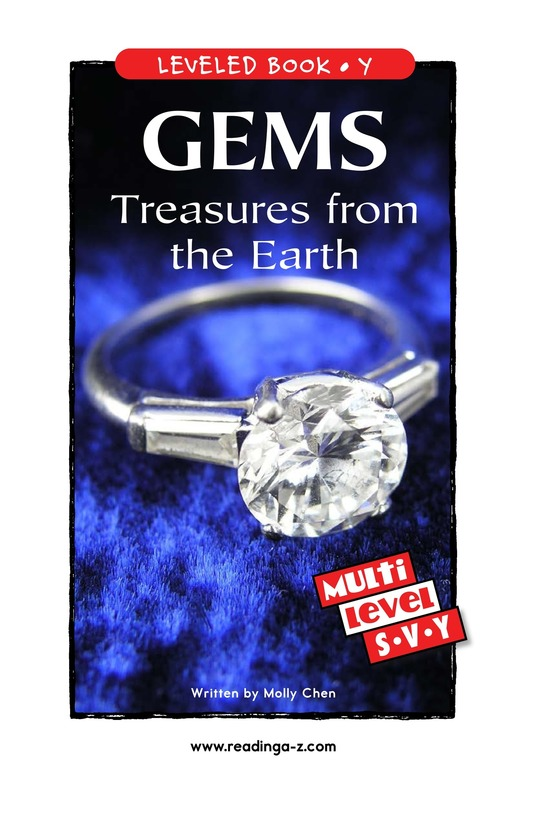 Book Preview For Gems: Treasures from the Earth Page 1