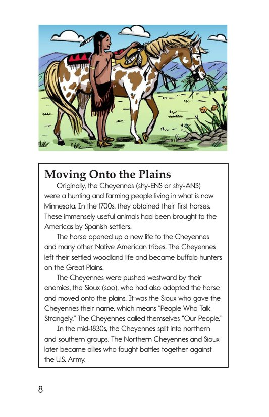 Book Preview For The Cheyennes Page 8