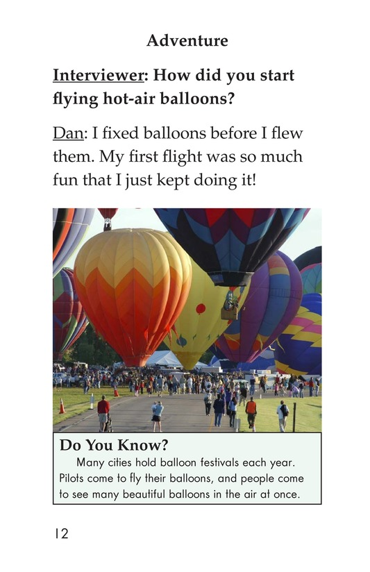 Book Preview For I Fly Hot-Air Balloons Page 12