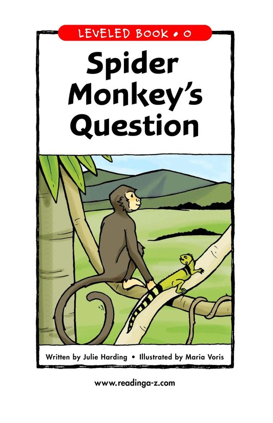 Book Preview For Spider Monkey's Question Page 1