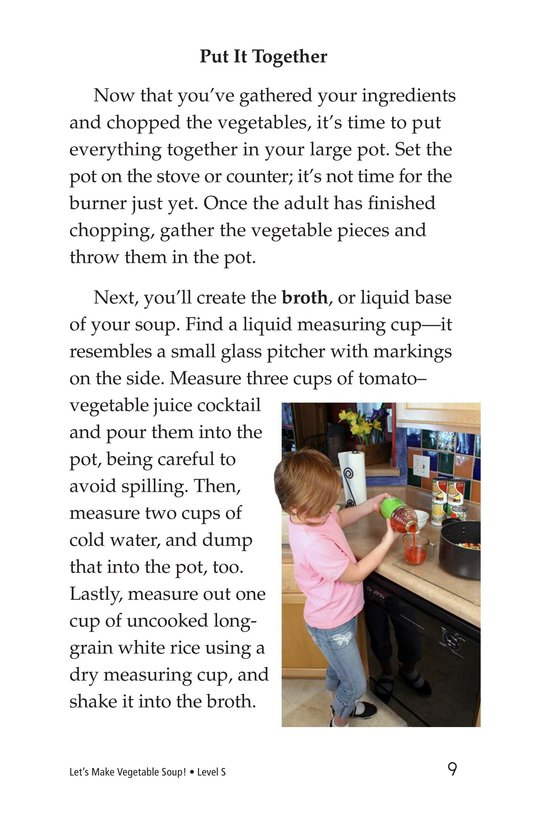 Book Preview For Let's Make Vegetable Soup Page 9