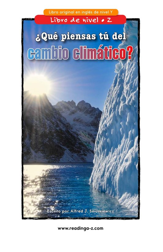 Book Preview For What Do You Think About Climate Change? Page 1