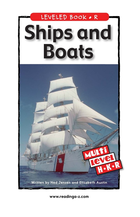 Book Preview For Ships and Boats Page 1