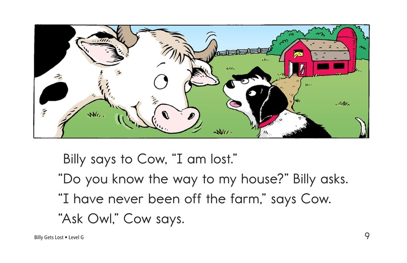 Book Preview For Billy Gets Lost Page 9