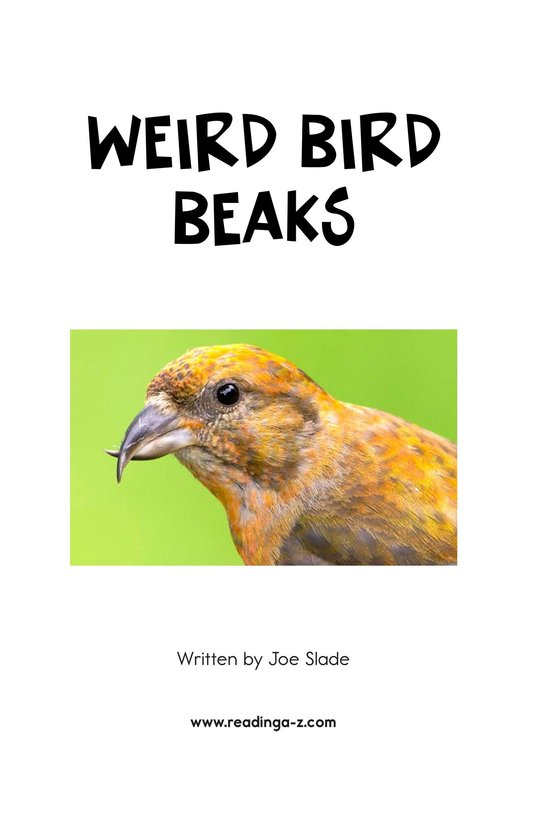 Book Preview For Weird Bird Beaks Page 2