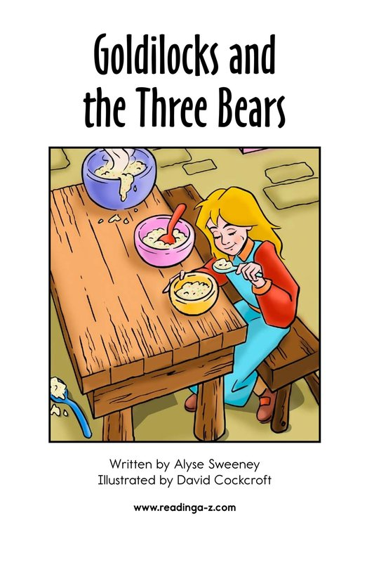 Book Preview For Goldilocks and the Three Bears Page 2