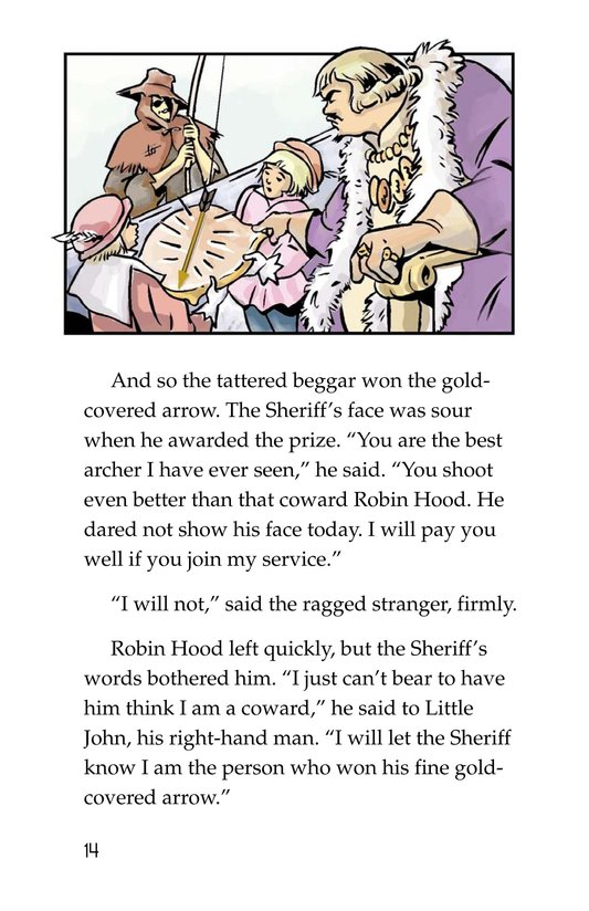 Book Preview For Robin Hood Wins the Sheriff's Golden Arrow Page 14