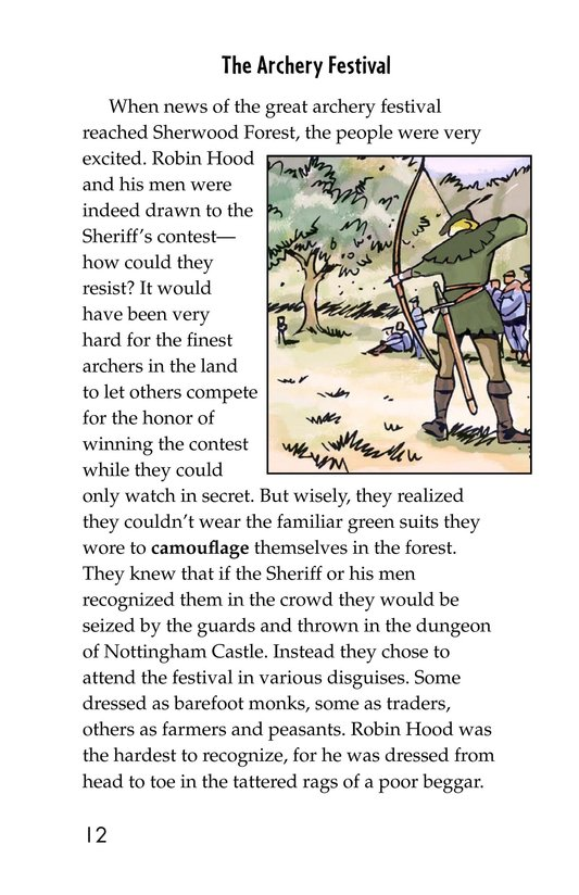 Book Preview For Robin Hood Wins the Sheriff's Golden Arrow Page 12