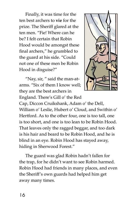 Book Preview For Robin Hood Wins the Sheriff's Golden Arrow Page 16