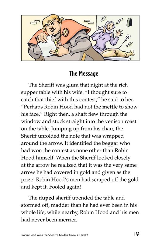 Book Preview For Robin Hood Wins the Sheriff's Golden Arrow Page 19