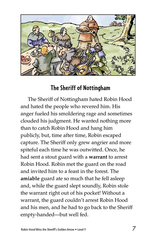 Book Preview For Robin Hood Wins the Sheriff's Golden Arrow Page 7