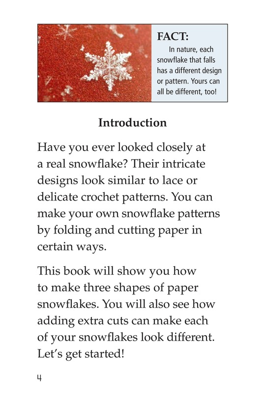 Book Preview For Let's Make Snowflakes! Page 4