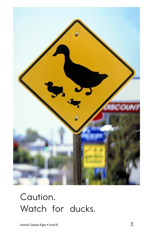 Book Preview For Animal Caution Signs Page 3