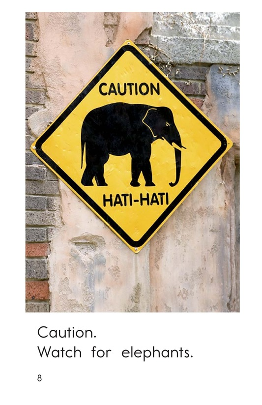 Book Preview For Animal Caution Signs Page 8