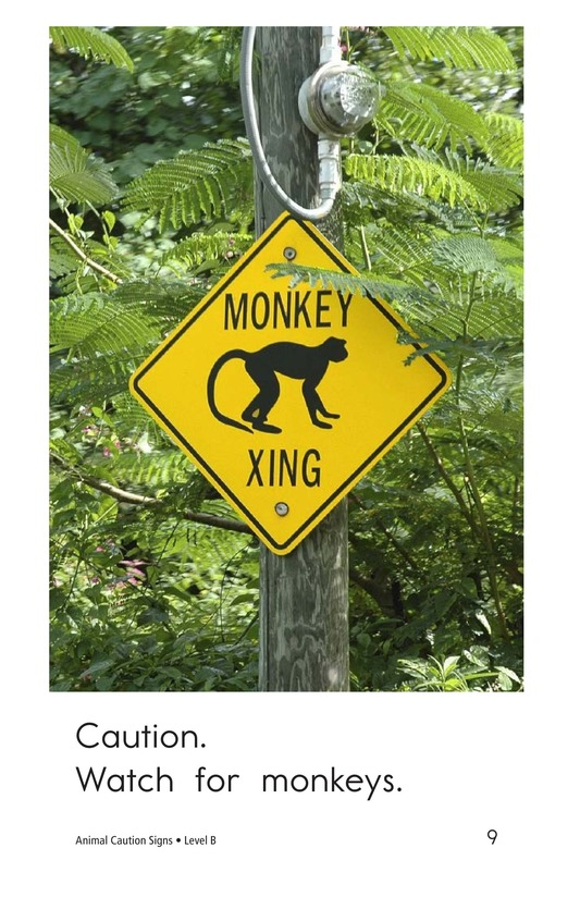 Book Preview For Animal Caution Signs Page 9