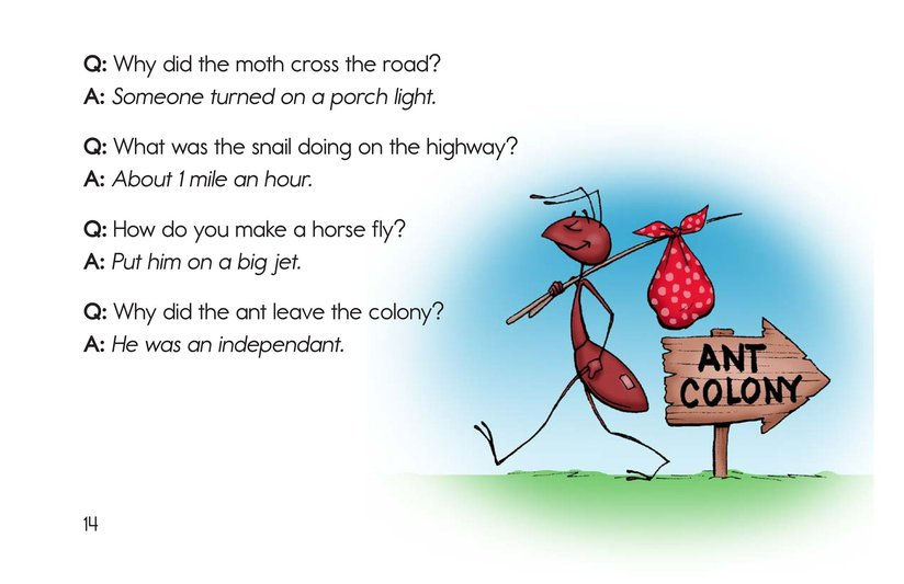 Book Preview For The Creepy, Crawly Book of Insect Riddles Page 14