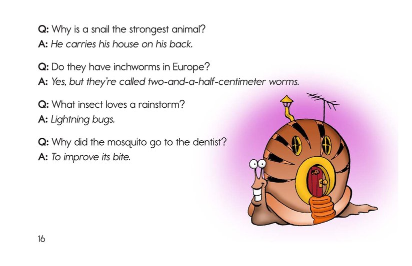 Book Preview For The Creepy, Crawly Book of Insect Riddles Page 16