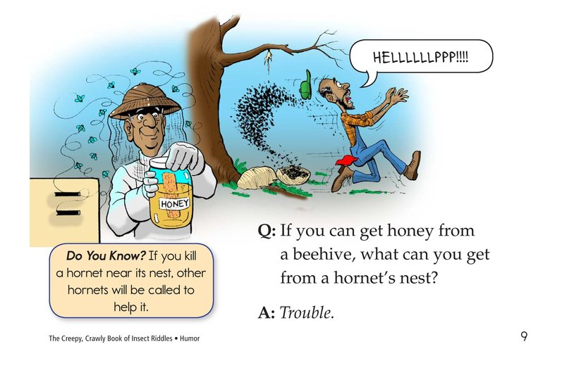Book Preview For The Creepy, Crawly Book of Insect Riddles Page 9