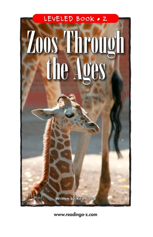 Book Preview For Zoos Through the Ages Page 1