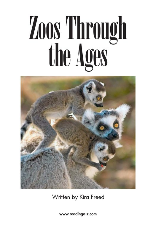 Book Preview For Zoos Through the Ages Page 2