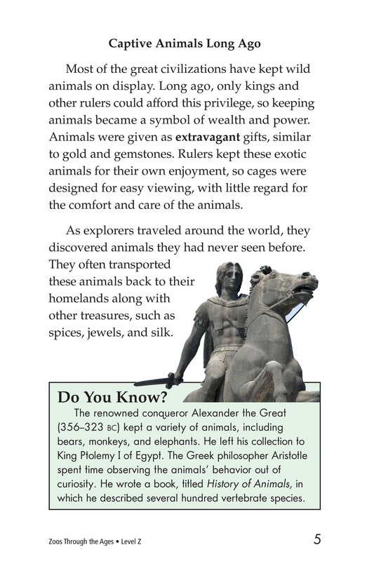 Book Preview For Zoos Through the Ages Page 5