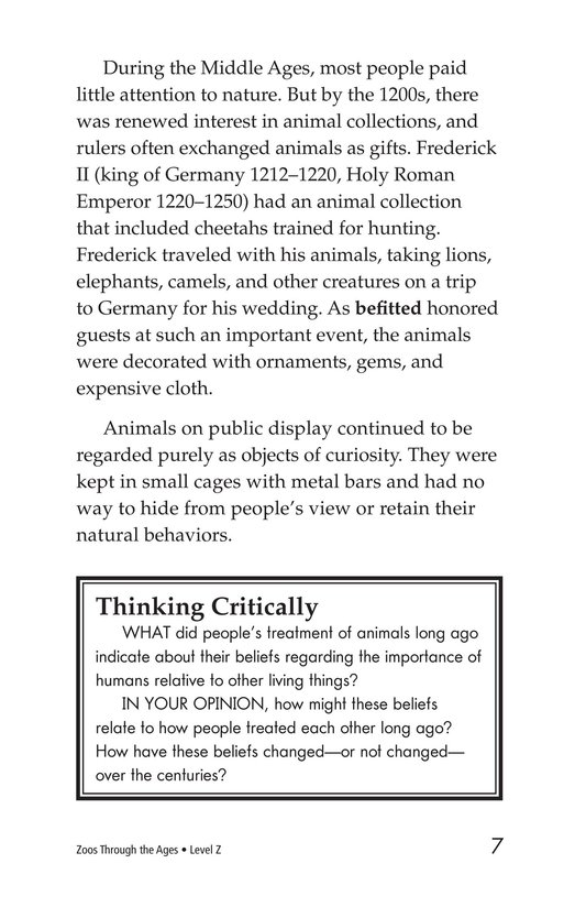 Book Preview For Zoos Through the Ages Page 7