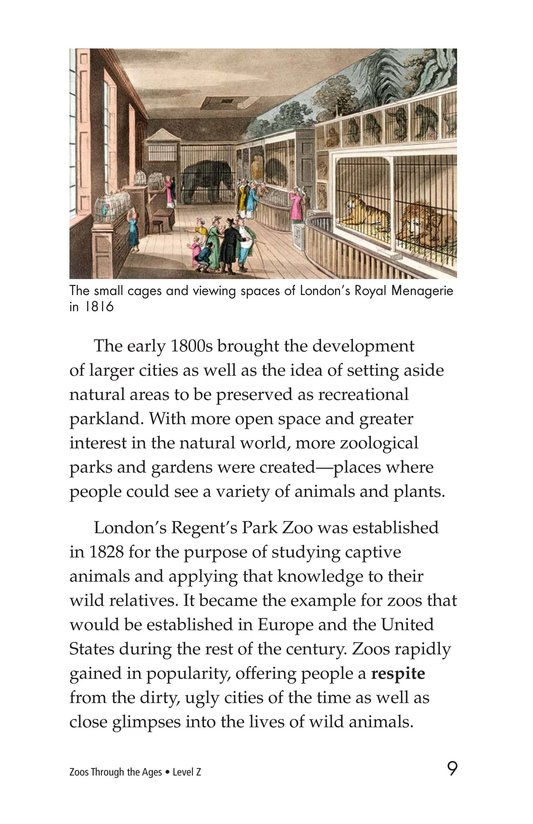 Book Preview For Zoos Through the Ages Page 9