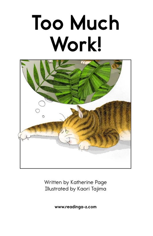 Book Preview For Too Much Work! Page 2