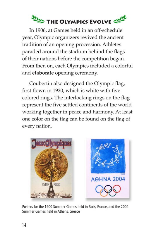 Book Preview For The Olympics: Past and Present Page 14