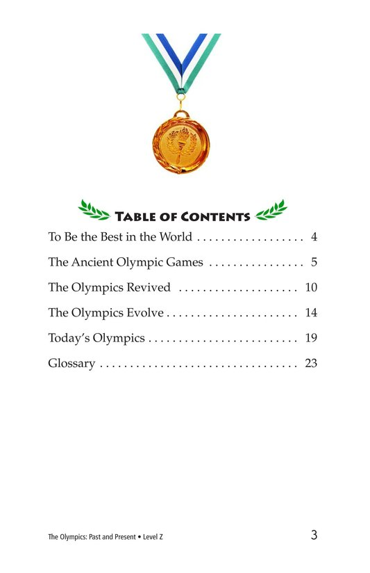 Book Preview For The Olympics: Past and Present Page 3