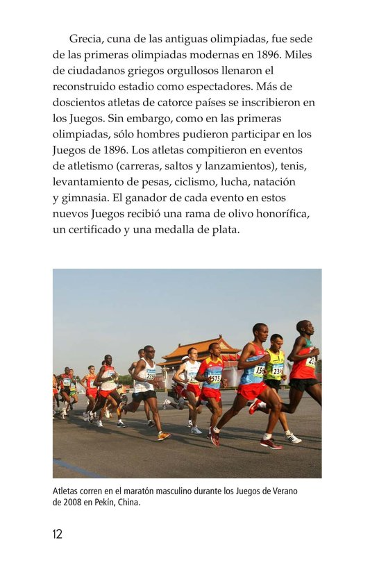 Book Preview For The Olympics: Past and Present Page 12
