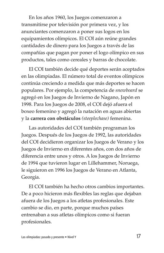 Book Preview For The Olympics: Past and Present Page 17