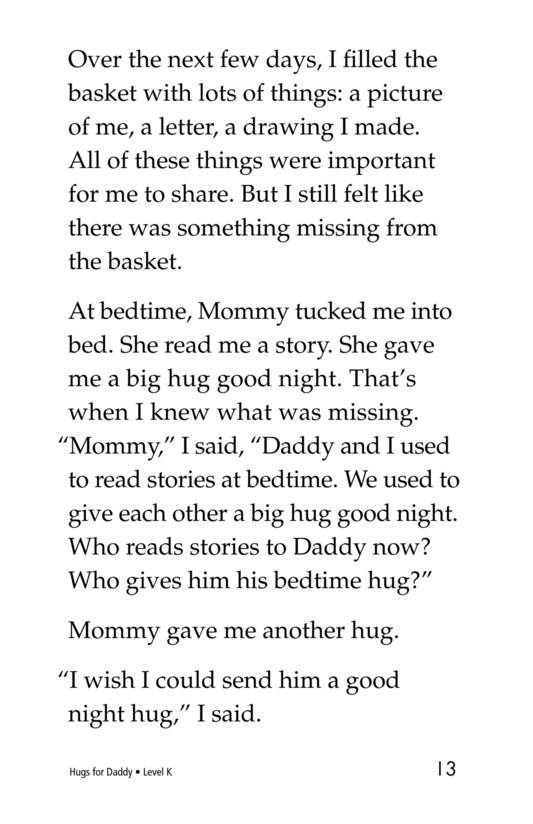 Book Preview For Hugs for Daddy Page 13