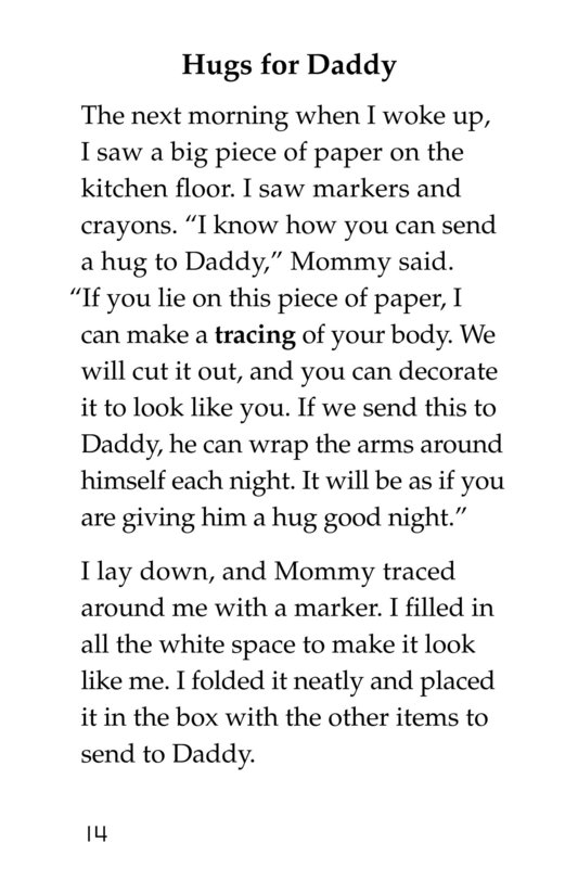 Book Preview For Hugs for Daddy Page 14