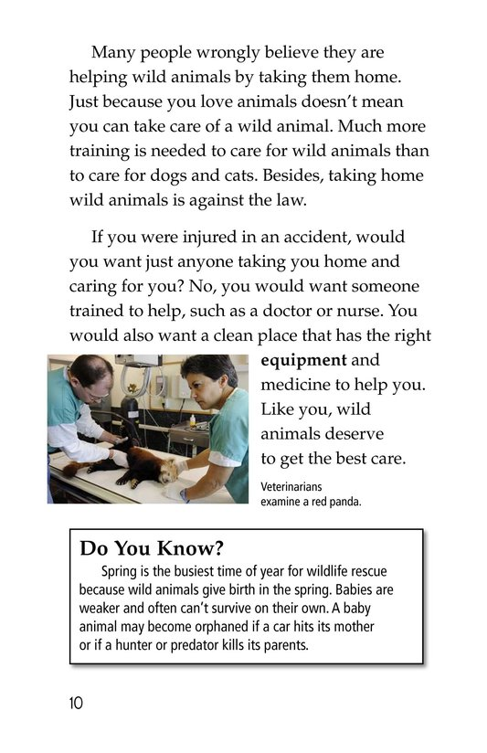Book Preview For Wildlife Rescue Page 10